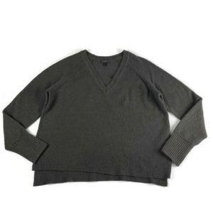 J Crew Sweater Merino Wool Alpaca V Neck Supersoft